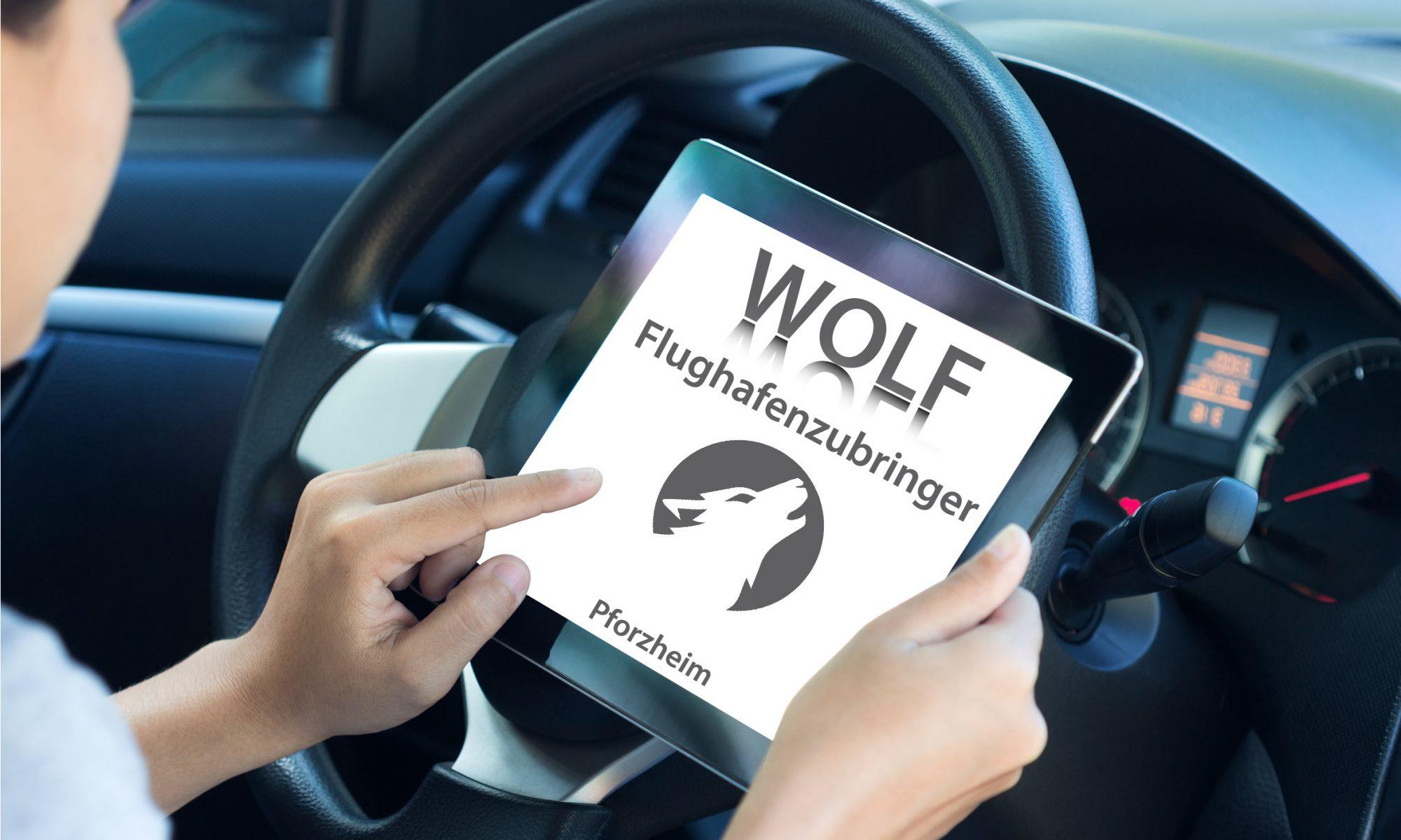 Kontakt Beitragsbild WOLF Flughafenzubringer Pforzheim